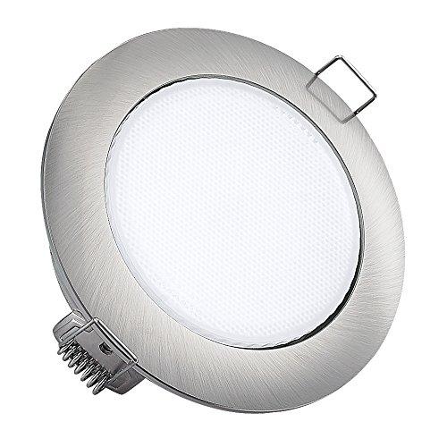 Einbauleuchte Einbaustrahler Led 7W Warmweiß GX53 230V gebürstet Decken Strahler Spot 666SN75330GX Decken Lampe