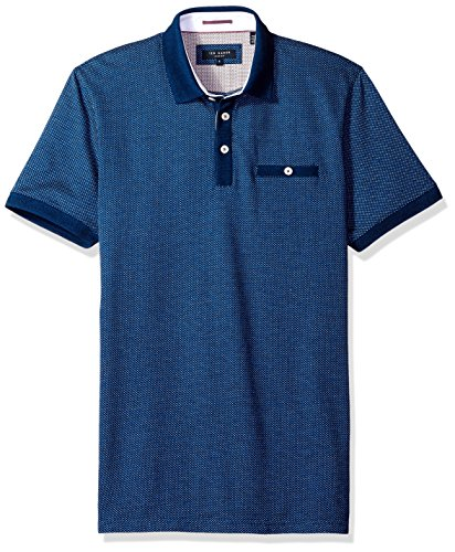 Ted Baker Men's Mid Blue Otto Polo Shirt Blue