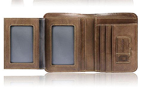 ZXDOP Brieftasche der Männer Mappen-Retro- Männer kurze Beutel-Mappe der ledernen Beutel-Männer ( farbe : 3# , stil : B ) 1#