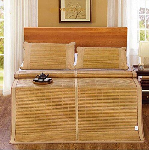 Colchón fresco Doble cara mats elegante doble tipo de estera de bambú se puede plegar de bambú rattan estera con aire acondicionado asientos (excepto fundas de almohada) 1,8 m cama Estera de bambú fresca ( Tamaño : 1.5m bed )