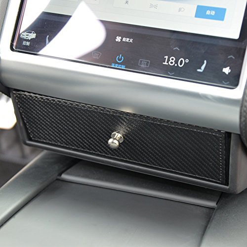 TOPFIT Auto Mittelkonsole Organizer, kleine Schublade für Model S/X, Gläser Box,Schublade Aufbewahrungsbox für Model s /Model X(plaid) (Kleine Mittelkonsole)