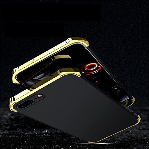 iPhone X Coque, WindCase 3 en 1 Anti-égratignures PC Chrome Antichoc Etui Rigide en Plastique Protection Case pour iPhone X Bleu Or Or