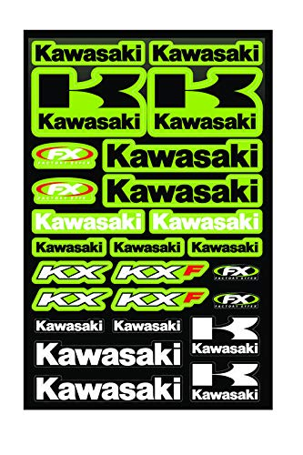 KIT STICKERS FOX ADESIVI KAWASAKI KX KXF SPONSOR MOTO HONDA CROSS ENDURO CASCO(40)