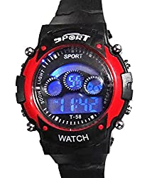 Blue Diamond Red sports Watch for Kids_unisex 7 lights (GOOD GIFT FOR KIDS)