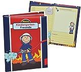 Unbekannt Meine Kindergarten Freunde Buch - Feuerwehrmann Frido Feuerwehr für Jungen - dick gebunden für Kindergartenfreunde Poesie A5 Hardcover - Freundebuch Poesiealb..
