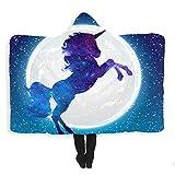 Coperta per bambini coperta con pisolini coperta con cappuccio coperta fantasia a forma di cavallo da sogno, stampa digitale 3D, 150x200 cm