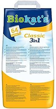 Biokat's - Litière pour chat Classic 3 en 1 - Agglomérante et anti-odeur - Ne colle pas - 1 x 20 L