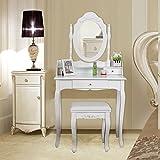 Songmics-RDT-Tocador-con-espejo-y-taburete-color-blanco