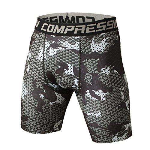Men's Compression Camouflage Coolmax Shorts DimGray