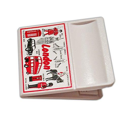Clip Souvenir UK England British Memo Magnet! Souvenir/kroatische/pour memoire! Eine stylische, erschwingliche London, England UK Memohalter British Zodiaque Magnet auf Price's Einzelhandelspreis! Ein Memorable und stilvoll London Souvenir! Aimant/Magnet/Magnete/Imán! ()