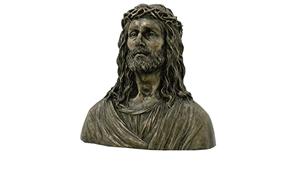 Sakrale Skulptur Jesus von Nazaret Büste Christus Messias Kirchenfigur Veronese