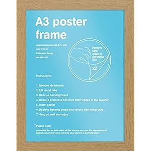 GB eye Bilderrahmen A3 Eiche - MDF - 29.7 x 42 cm | PostersDE