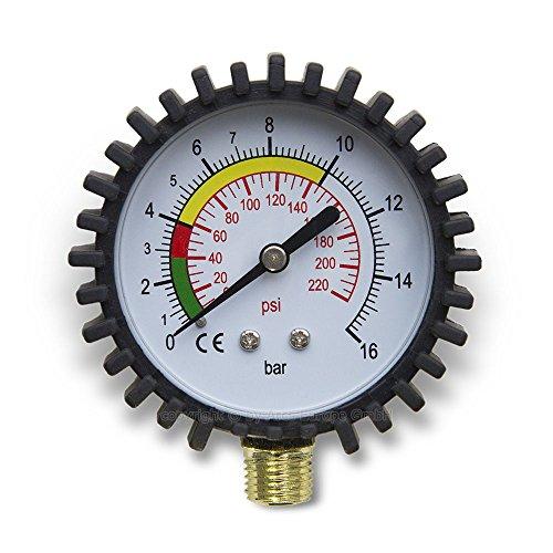 """Preisvergleich Produktbild Hydraulik Druckluftmesser Manometer 75mm senkrecht 1/4"""" Anschluss - 0 -16 bar"""