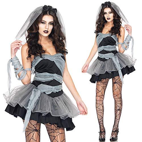 Baby Zombie Doll Kostüm - MAIMOMO Baby Dolls & Negligees Für Damenvampir Kostüm Europa Und Amerika Damen Spiel Uniform Halloween Dämon Zombie Geist Braut Rolle Spielen, Bild Farbe, L