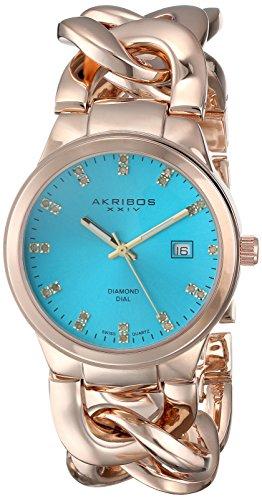 Akribos XXIV da donna diamond-accented Gold-Tone Orologio