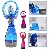 attachmenttou Mini Ordinateur de Poche Ventilateur de Ventilation Spray d'eau portatif Opération de Batterie de Mode Cou