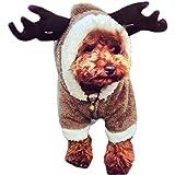 GenialES Sudaderos Chaqueta con Capucha para Perro Invierno Mono para Mascota de Terciopelo de Coral Disfraz Halloween XL:46*38*40cm