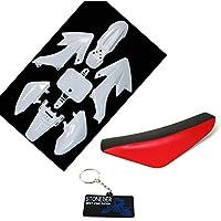 STONEDER Weiß Kunststoff Verkleidung Schwarz Rot Hohe Schaum Sitz Für CRF50 XR50 Pit Dirt Bike 50 125 160cc