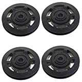 GoldenTrading 4pcs Universal 95mm Aluminum Bearing Pulley Wheel for Gym Fitness Equipment
