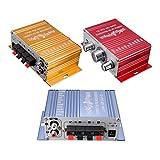 Ndier 1Paquete Mini Amplificador Super Bass Hallo fi Stereo Audio Amplificador Booster para Auto Moto Start con DC 12V Alimentación, zufälliger Color Auto Accesorios