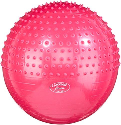 Carnegie Gymnastikball Ø 65 Noppen Massageball Sitzball Bürostuhl 300 kg + Pumpe - Übung Hälfte Ball