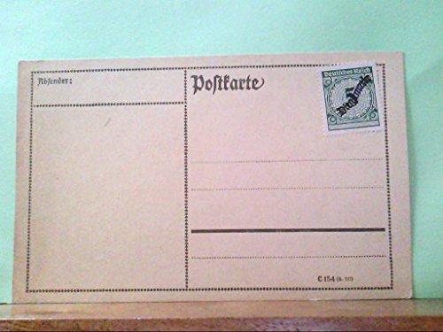 """AK Blanko Postkarte mit 5 Pfennig Briefmarke \"""" Dienstmarke \"""", Deutsches Reich, Ungelaufen."""