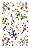 Avery Zweckform 54457 Deko Sticker blumen 18 Aufkleber