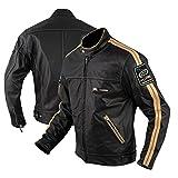 A-Pro Lederjacke Anilin CE Protektoren Motorrad Roller Custom Thermofutter Weiss L