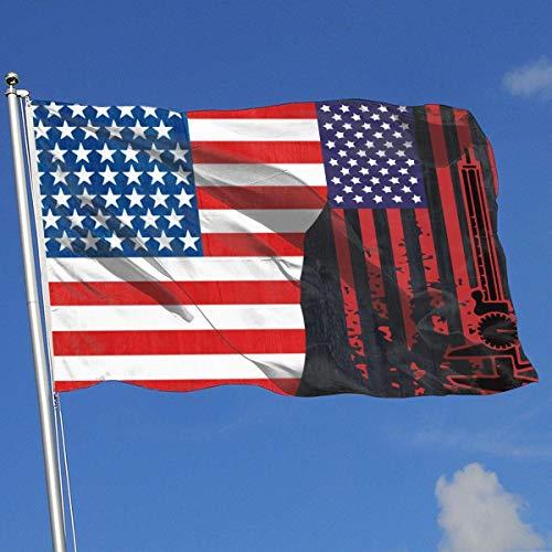 N/A Distred Flagge mit Caliper Banner Flagge Gedruckt Hochzeitstag Flagge Frühling Sommer Garten Flagge 3 X5 Haus Banner Flagge