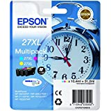 EPSON C13T27154010 T2715 cartouche d'encre 27XL réveil, Multi-Pack, 3 pièces, cyan / magenta / jaune