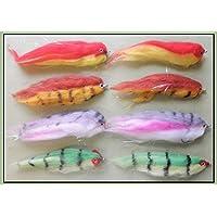 PIKE pesca moscas, 8unidades, imitación de freír, perca, lucio y Firebird arco iris, tamaño 2/0