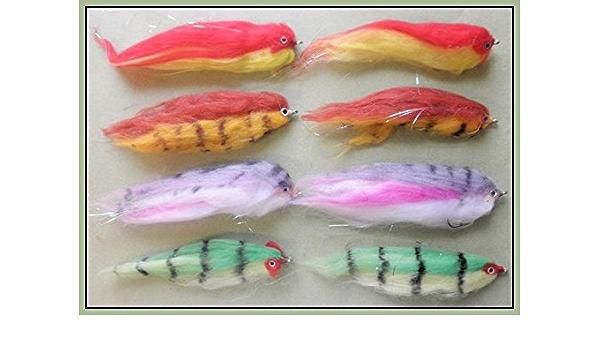 imitation Fry Pike Fishing Flies 4 Firebird Pike fly Fishing Size 2//0
