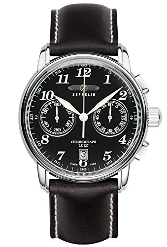 Zeppelin Watches Men's Quartz Watch 7678-2 with Leather Strap