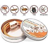 Collar antiparasitos,WOLFWILL Collar de pulgas y garrapatas para Perros contra Pulgas, Garrapatas y Mosquitos