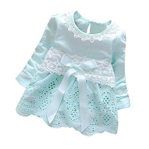 Covermason Baby Mädchen Kleider Prinzessin Kleider Dresses (M(6-12 Monate), Blau)