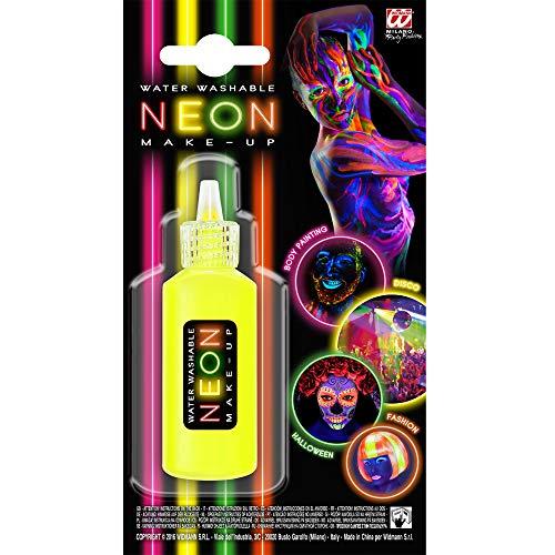 Widmann 50007 Make-Up Neon in Dosierflasche, Gelb