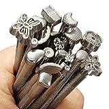 Alwayswe Metallstempel-Set für Lederstempel, zum Basteln, Schnitzen, Werkzeug, Lederarbeiten, Sattelherstellung