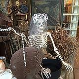 Bluelover 170Cm Halloween Skelett Poseable Dekorationen Lebensgroße Party Dekoration Geschenk PVC