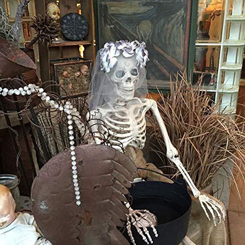Bureze 170 cm Halloween Skelett bewegliche Dekorationen Lebensgröße Party Dekoration Geschenk PVC