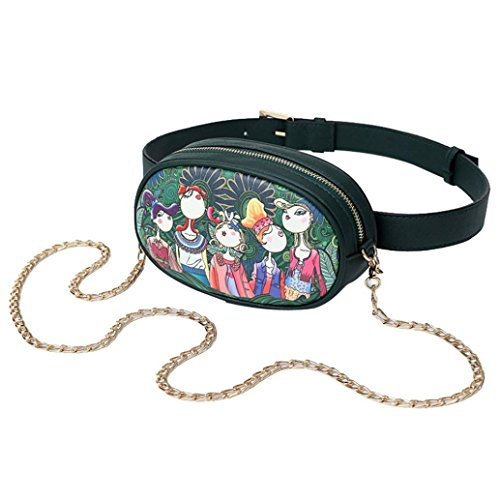 OYSOHE Damen Umhängetasche, Frauen Freizeit Wald Mädchen Muster Druck Oval Schultertaschen ShopperRucksack Handtasche