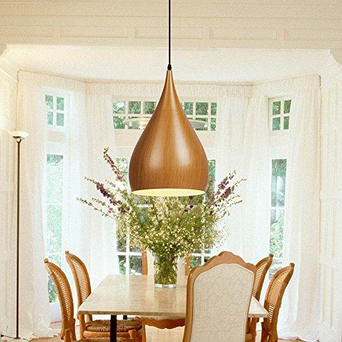 KHSKX Classica industriale Loft sala da pranzo lampadario pendente legno grano cinese bar café singola testa della lampada
