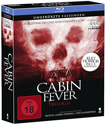 Cabin Fever 1-3 - Komplettbox mit allen 3 Teilen (3 Blu-rays) -