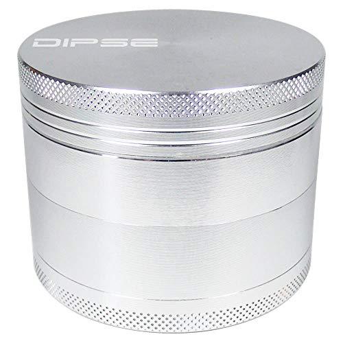 DIPSE 63mm Alu Grinder 4-teilig mit Sieb aus CNC gefrästen Aerospace Aluminium - Für den Gebrauch von Kräuter- und Tabakwaren