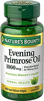 Nature's Bounty, Evening Primrose Oil, 1000 mg, 60 Softgels from Nature's Bounty