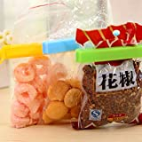 ROYALDEALSHOP 12PC 3 Different Size Plastic Food Snack Bag Pouch Clip Sealer For Keeping Food Fresh For Home Kitchen Camping, Kitchen Storage Food Snack Seal Sealing Bag Clips Clamp Plastic Tool New Arrival(Multi Color)
