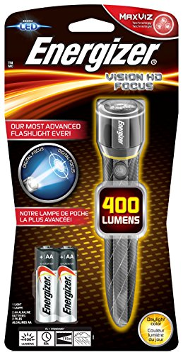 Energizer Taschenlampe Vision HD Metal LED 2AA (inkl. Batterien, 400 Lumen) Hd-metal
