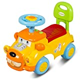 #8: GoodLuck Baybee - Toddlers Ride On Push Car With Music Toy Children Rider & Small Toy Infant Baby Toys   No Battery   Twist, Turn, Wiggle for endless fun Easy To Assemble   Kids Suitable For Boys & Girls (1-2 years) Yellow