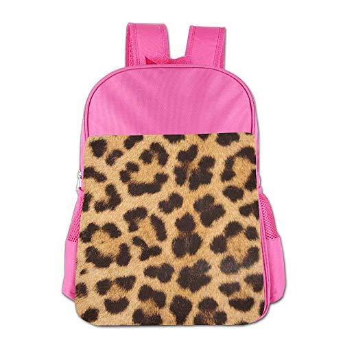 Lovely Schoolbag Leopard Skin Print Children School Backpack Carry Bag For Teens Boys Girl