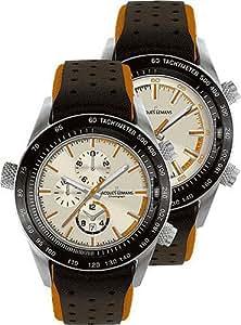 Jacques Lemans Sports Herrenarmbanduhr Turnable - Dualtime - Chronograph 1-1515 D