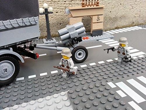 Modbrix 2182 – Bausteine Nebelwerfer 41 Stellung inkl. custom Wehrmacht Soldaten aus original Lego© Teilen - 6
